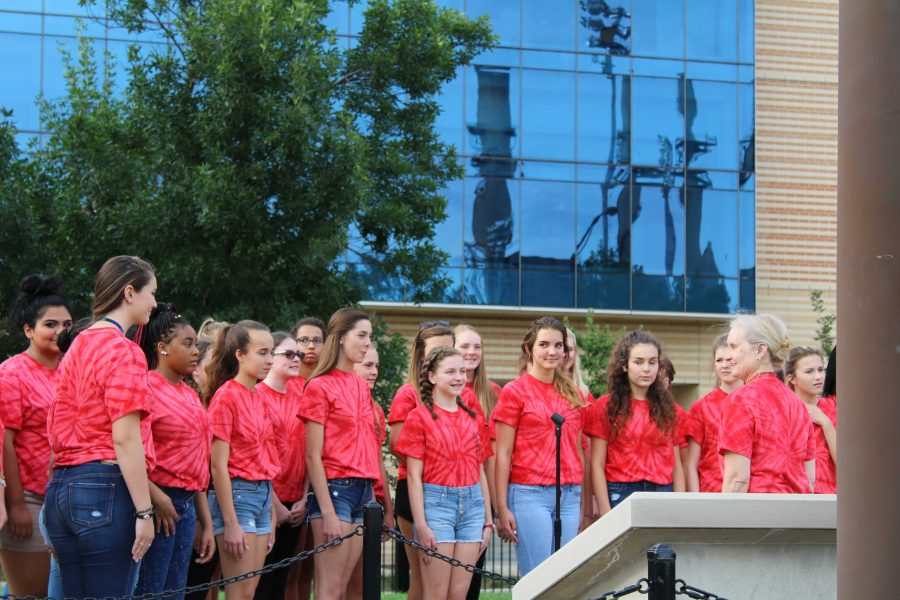 Choir Opens for Indians Game