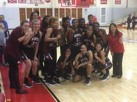 Girls Basketball Wins First Marion County Trophy in Decades