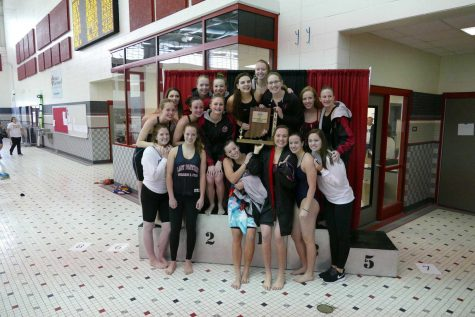 Girls Swimming and Diving Sweeps Sectional Meet