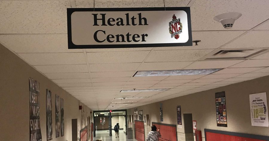 The health center is located in lower M hall.