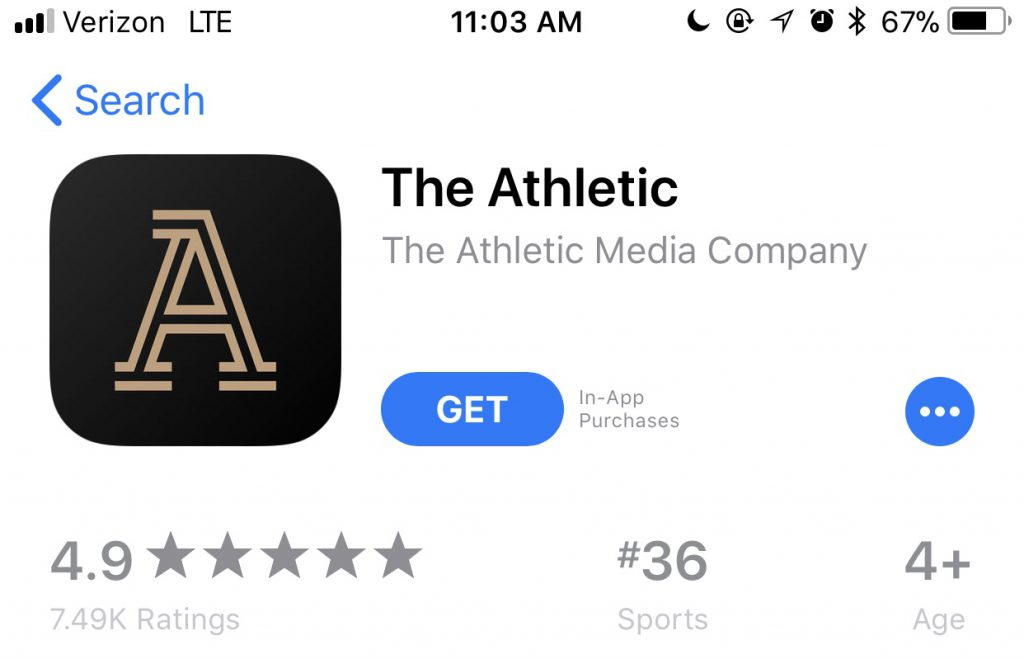 App of the Week: The Athletic