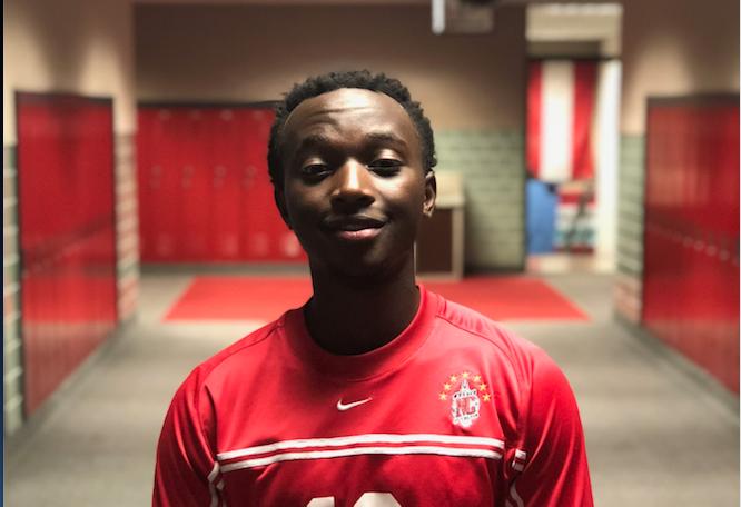 Senior Kirezi Freddy has enjoyed playing soccer his whole life. He now plays varsity soccer.