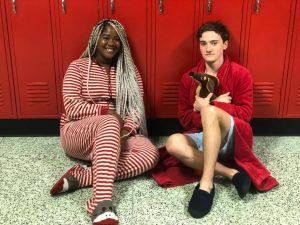 Day four is pajama day. Students get cozy in their nightwear.