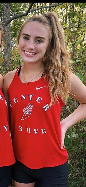 Junior Bella Hodges from Center Grove.
