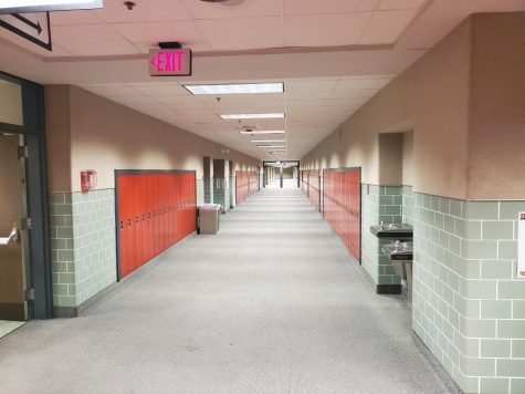 The hallways are much less full this semester, with many kids learning from home. The halls and classrooms are even below 25% capacity some days.