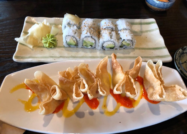 The Blue Sushi Sake Grill is located in the Ironworks building near NC. They serve a wide variety of sushi, as well as many other seafood platters.