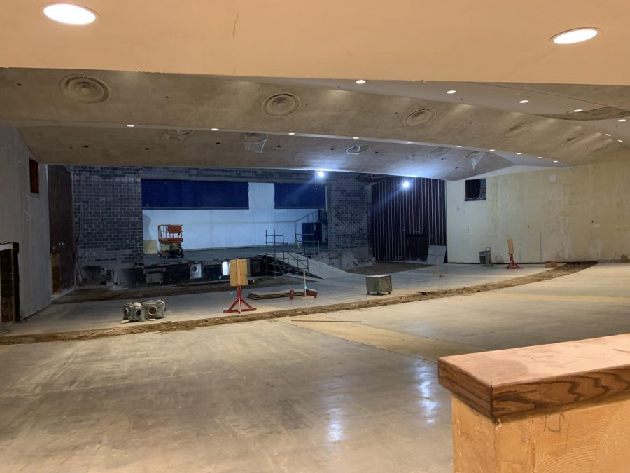 Construction takes over the auditorium. The auditorium has been blocked off until further notice.