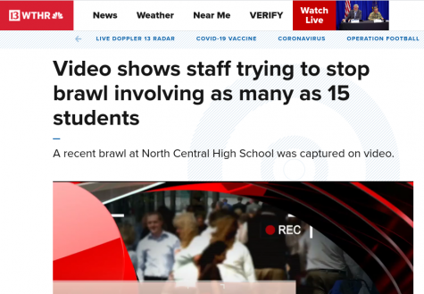 One of the large fights gets shared on the news. Fights have become more common on campus and administration is doing all they can to shut them down.